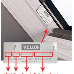 Velux Window Motor Wiring Diagram 98 Nissan Maxima Engine Product Id Identify Your Model Skylight Number 1