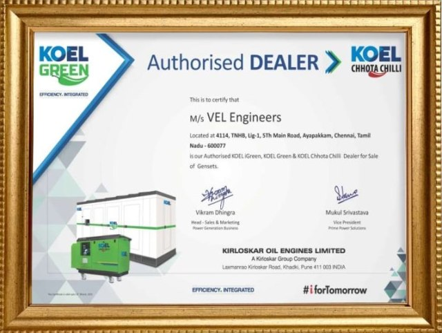 Kirloskar authorized dealer in chennai