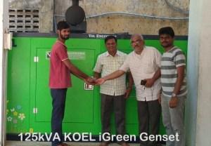 125kva generator prices