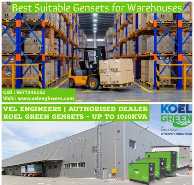 Generators for Warehouses in Chennai