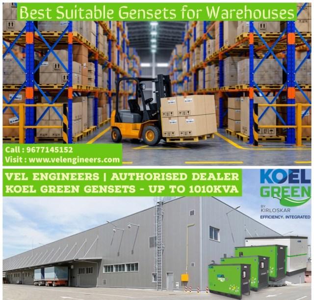 Generators for warehouse