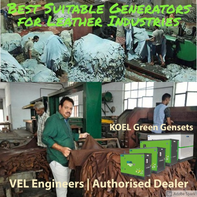 Generators for Leather Industries in Chennai