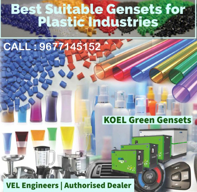 Generators for Plastic Industries in Chennai