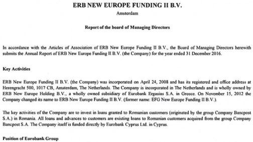ERB New Europe Funding II BV