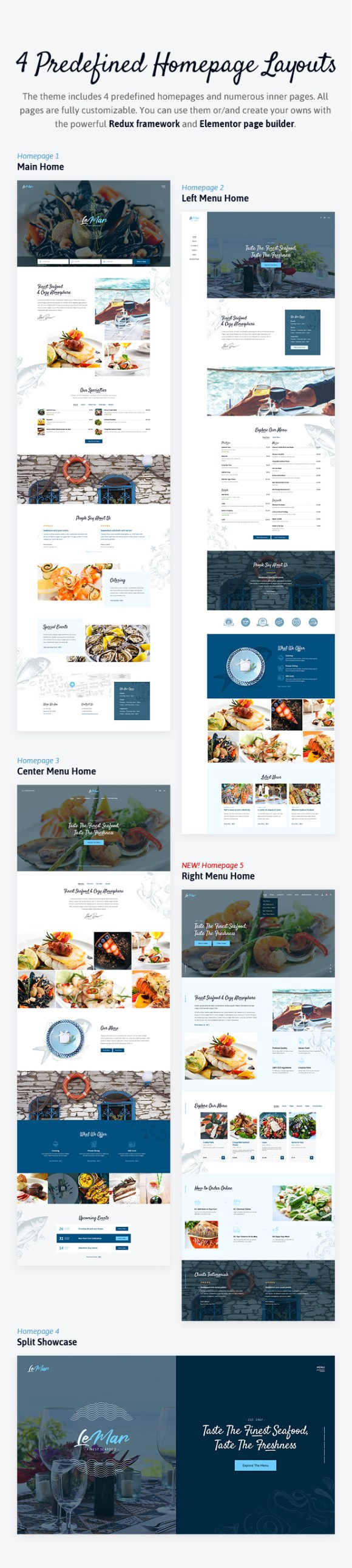LeMar - Seafood Restaurant WordPress Theme - 2