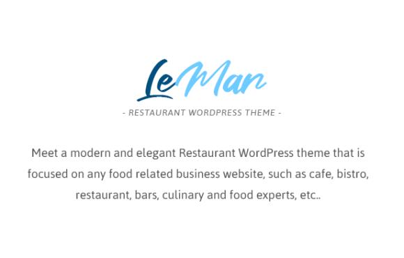 LeMar - Seafood Restaurant WordPress Theme - 1