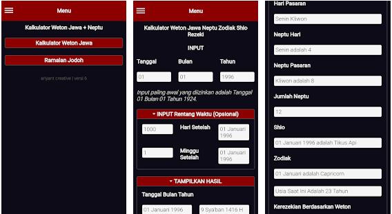 Kalkulator Weton Jawa Neptu Zodiak Shio Rezeki