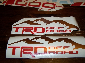 Trd Off Road Bedside Window Sticker Vinyl Decal Toyota