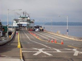Vashon ferry at Fauntleroy landing