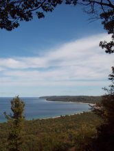 Lake Michigan view from Alligator Hill