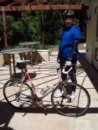Oscar with his classic DiBernardi lugged steel frame