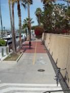 bike path runs all along Santa Monica Bay