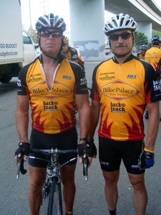 Steve & Bruce Steele at the start in San Pedro.