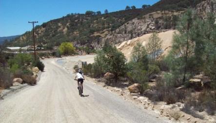 back down through the quarry