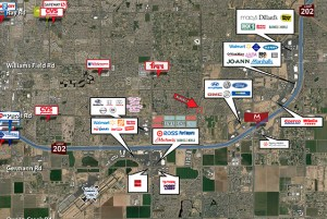 Pecos Road and Lindsay Road - NEC 1