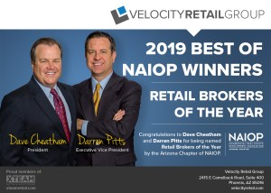 Velocity Retail Winner of NAIOP's Retail Broker Team of the Year 1