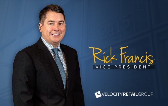 Rick Francis - Velocity Retail Group