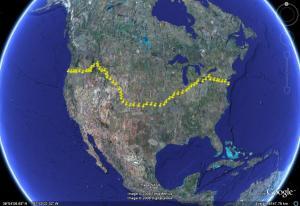 TransAmerica 2008 Route