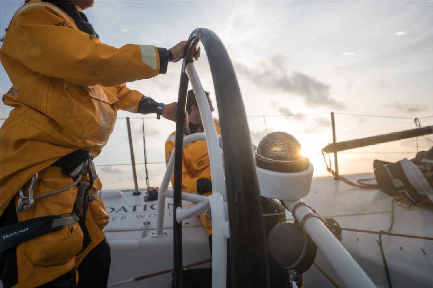 Foam Steering Wheel Grip On Volvo Ocean Race Boat Sailing Offshore