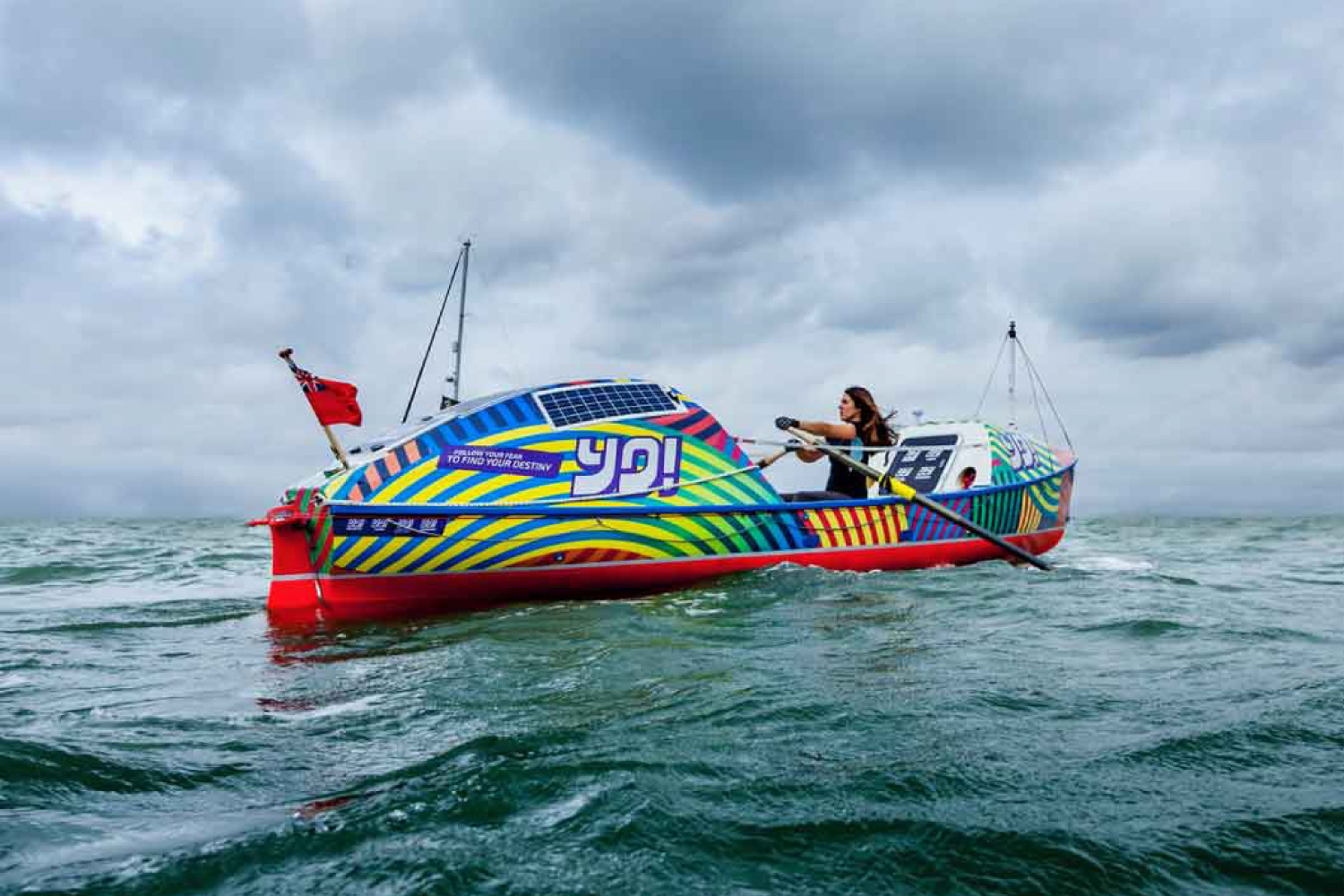 YO! Sushi Ocean Rowing Boat For Lia Ditton With A Full Digitally Printed Hull Vinyl Wrap And Graphics