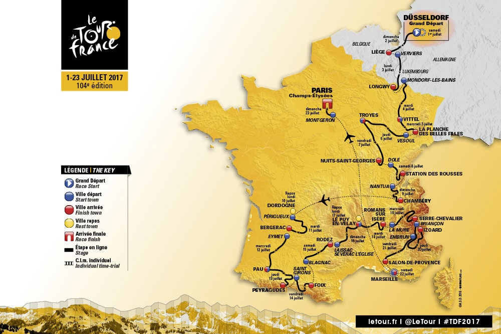 Tour de France route 2017