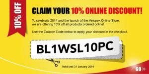 BL1WSL10PC - Velopex 10% Online Discount