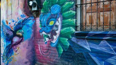 Wandmalereien auf der Ruta de las Flores in El Salvador