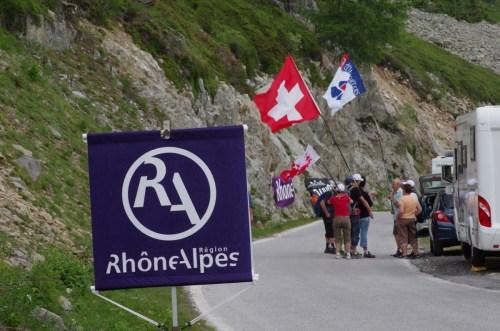 """L'affichage """"Rhône Alpes"""" étaient bien présent sur les routes suisses..."""