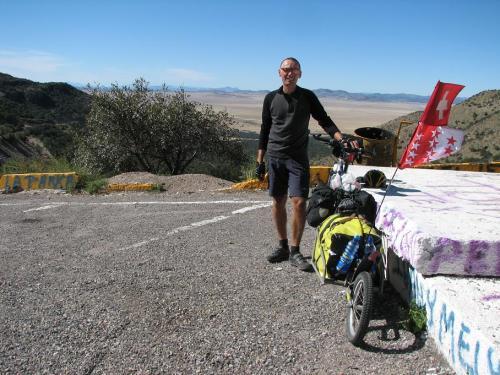 Portrait au passage d'un col entre Tucson et San Jose.