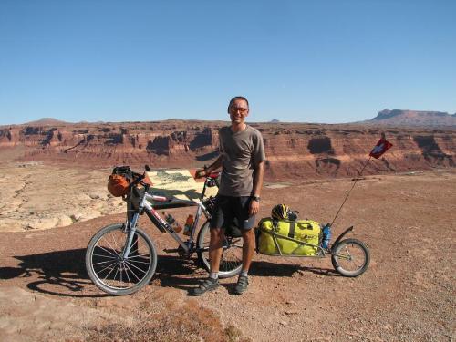Dans les roches rouges de l'Utah.