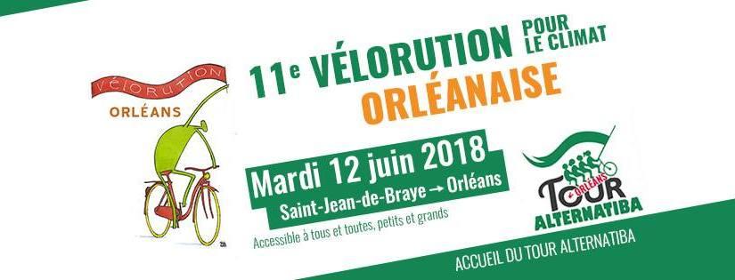 Mardi 12 juin 2018: la vélorution orléanaise accueille le Tour Alternatiba