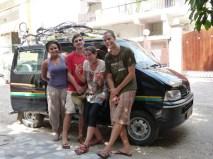Avec Jean Beu et Leo, New Dehli, Inde