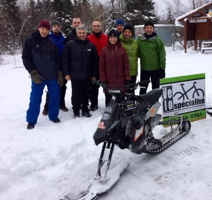 Inauguration sentiers Fat hivers Matane AD Boivin Snow Hawk JR dameuse pistes