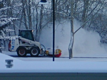 Calgary AB, Snow Sweeper on Bike Trail ©Photograph by H-JEH Becker, 2012