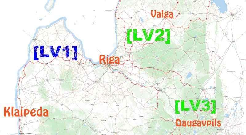Lettland per Rad