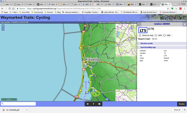 Kurische Nehrung Karte.Lt5 Küstenradweg Litauen Oder Kurische Nehrung Per Rad