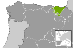 The race takes place in the Basque region of Spain (image courtesy of Wikipedia)