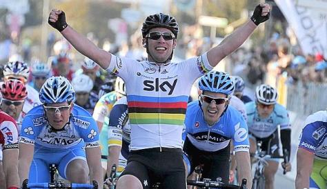 Cav gobbled up Farrar as if he was standing still (image courtesy of Tirreno-Adriatico)