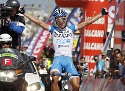 Stage winner Matteo di Corrado (image courtesy of Colnago CSF Bardiani)