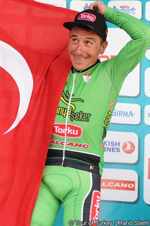 Ivailo Gabrovski wins queen stage in Turkey (image courtesy of official tour site)
