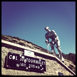 Statute of Lapize on Col du Tourmalet (image courtesy of official website)