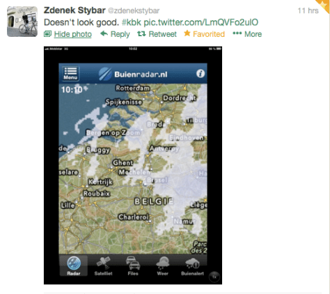 KBK Stybar weather map