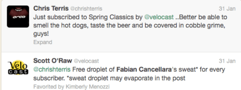 Velocast subscription Fabs sweat