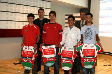 Beñat and his team who won the Trofeo Lehendakari