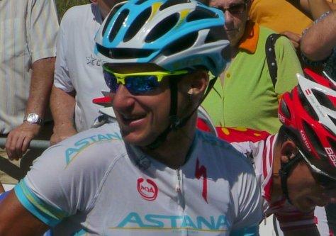 Kazakh national champion and Astana team fuelled by banana cake at Vuelta