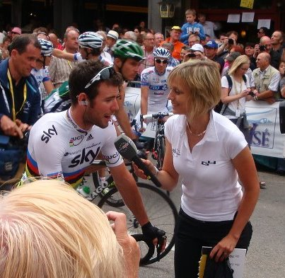 Mark Cavendish happy to answer a few questions posed by Petra