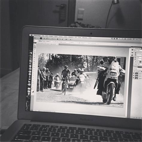 Editing Roubaix CREDIT: JON BAINES