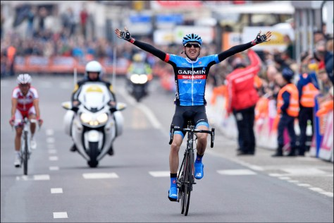Dan Martin crosses the line (Image: Garmin-Sharp)