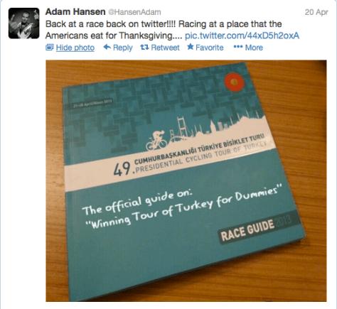 G Hansen Tour of Turkey guide
