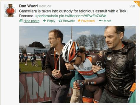 PR assault with a Trek pic